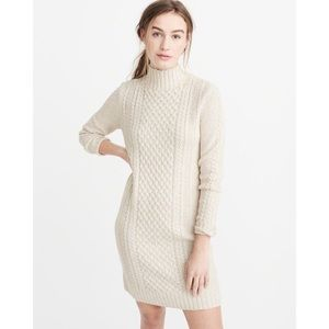 Abercrombie & Fitch Cable Sweater Dress